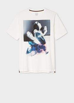 Paul Smith Men's White Large 'Precious Stones' Print T-Shirt