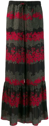 RED Valentino floral flared trousers
