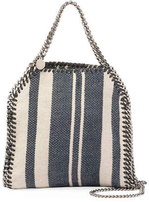 Stella McCartney Falabella Striped Canvas Mini Tote Bag