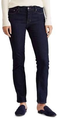 Ralph Lauren Modern Straight Curvy Jeans in Dark Rinse