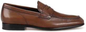 Tod's Tods Smooth Leather Brown Loafers