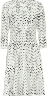 Alaia Abstract jersey dress