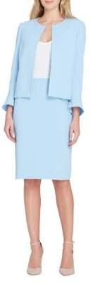Tahari Arthur S. Levine Flutter-Sleeve Jacket and Skirt Suit