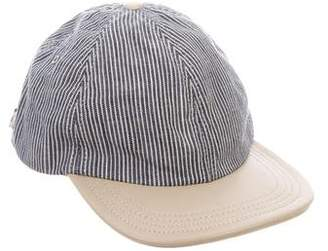 Shipley & Halmos Striped Leather-Trimmed Cap
