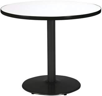 "KFI seating KFI 36"" Round Pedestal Breakroom Table with Multiple Colors Top, Round Black Base"