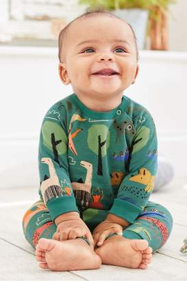 Next Boys Green Dinosaur Jumper And Joggers Co-ord Two Piece Set (0mths-2yrs) - Green
