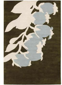 Thomas Paul Rugs Buds in Green and Dove