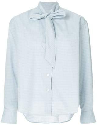 MAISON KITSUNÉ neck-tied blouse