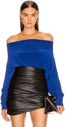Norma Kamali All In One Bodysuit in Berry Blue   FWRD