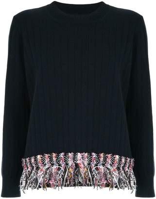 Coohem tweed-fringed sweater