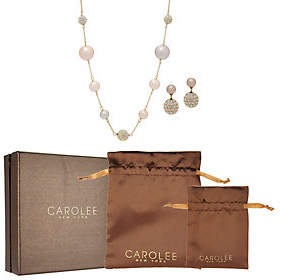 Carolee Bryant Park Simulated Pearl StationNecklace Set