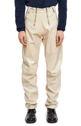 Gmbh Double Zip Vinyl Trouser