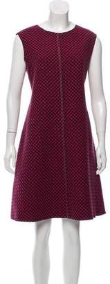 Hache Patterned Sleeveless Dress