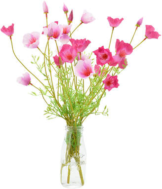 Creative Displays Pink Poppy Bunch In Glass Jar With Acrylic Water