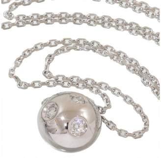 Mikimoto 18K White Gold 0.06ct Diamonds Pendant Necklace