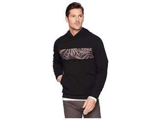 Kenneth Cole New York Blocked Hoodie w/ Chest Print Men's Sweatshirt