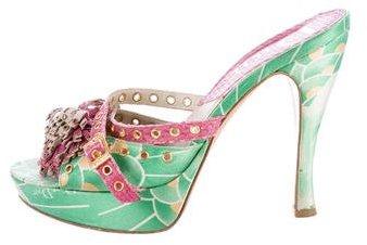Christian Dior Floral Slide Sandals