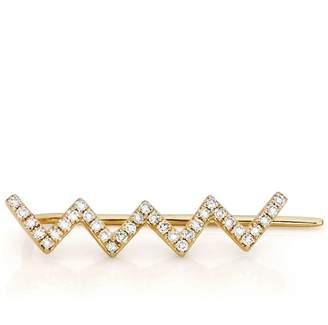 Ef Collection Diamond Zig Zag Ear Cuff for Left Ear