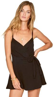 Amuse Society Keep It Breezy Wrap Tie Side Romper