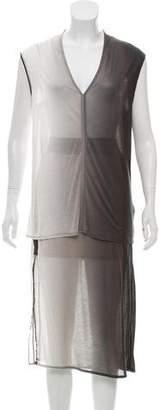 Helmut Lang Ombré Sleeveless Skirt Set