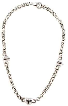 Kieselstein-Cord Heart Station Necklace