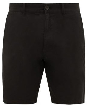 Saturdays NYC Tommy Cotton Chino Shorts - Mens - Black