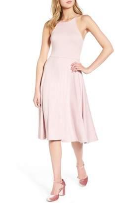 Soprano Knit Midi Dress
