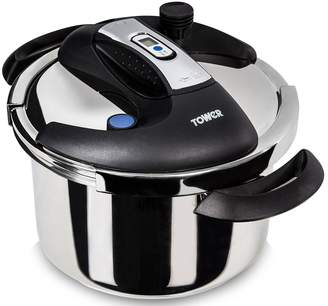 Tower Pro 4-Litre One Touch Stainless Steel Pressure Cooker