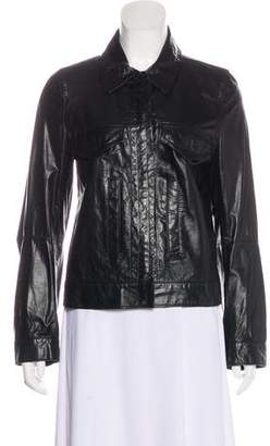 Ann Demeulemeester Button-Up Leather Jacket