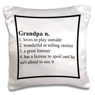3dRose Definition of Grandpa saying - Pillow Case, 16 by 16-inch