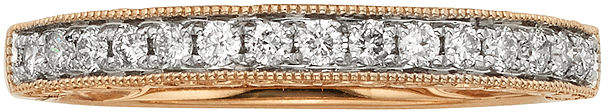 JCPenney MODERN BRIDE 1/4 CT. T.W. Certified Diamond 14K Rose Gold Wedding Band