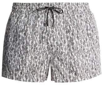 Dolce & Gabbana Floral And Heart Print Swim Shorts - Mens - White
