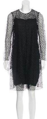 Akris Long Sleeve Mesh Dress