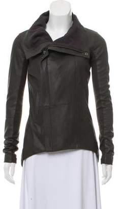 Veda Leather Asymmetrical Jacket