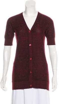 TSE Short Sleeve Button-Up Cardigan