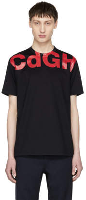 Comme des Garcons Homme Homme Navy and Red CDGH Logo T-Shirt