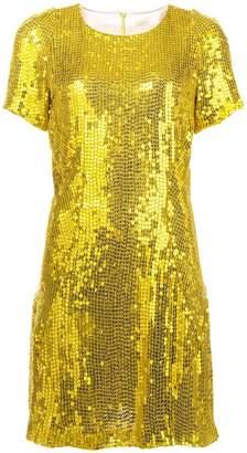 Galvan sequinned mini dress