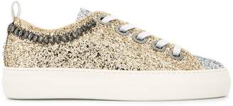 No.21 low-top glitter sneakers