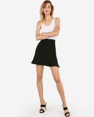 Express High Waisted Ruffle Hem Mini Skirt