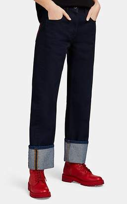 Valentino Women's Cuffed Jeans - Dk. Blue