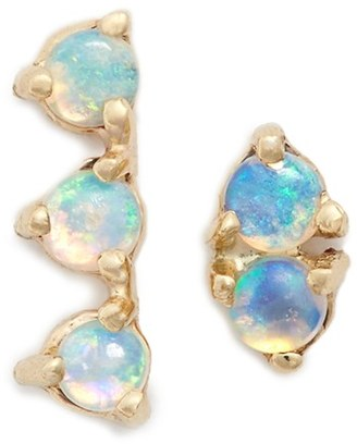 Women's Wwake 'Counting Collection - Three-Step & Two-Step' Opal Earrings $330 thestylecure.com
