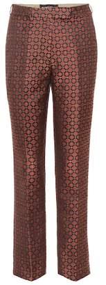 Etro Jacquard mid-rise slim pants