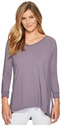 Mod-o-doc Supreme Jersey Lace Inset V-Neck T-Shirt Women's T Shirt