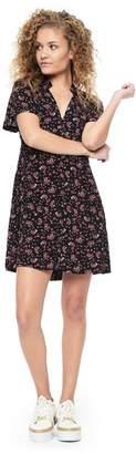 Juicy Couture Soft Focus Floral Collar Dress