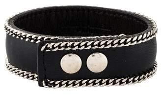 Saint Laurent Leather Chain Wrap Bracelet