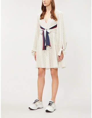 Stella McCartney Logo-print silk midi dress