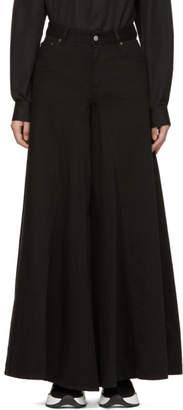 MM6 MAISON MARGIELA Black Wide-Leg Jeans