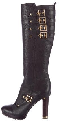 Tory Burch Tory Burch Buckle-Accented Knee-High Boots