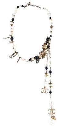 Chanel CC Logo Ocean Motif Collar Necklace