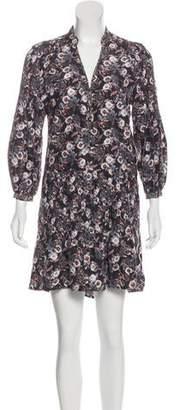 Veronica Beard Printed Silk Dress